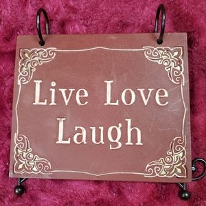 Other - LIVE, LAUGH, LOVE METAL PHOTO ALBUM STAND!